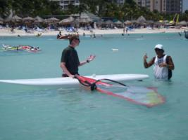 Aruba, Caribbean - learn to windsurf course