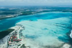 Bonaire Windsurf and Kitesurf Holiday. Lac bay aerial shot.