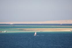 Hurghada, Red Sea - windsurf sailing area.