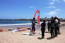Costa Teguise Windsurf Centre - Lanzarote. Land demonstration.