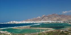 Greek Islands - Naxos. View to St Georges Beach.