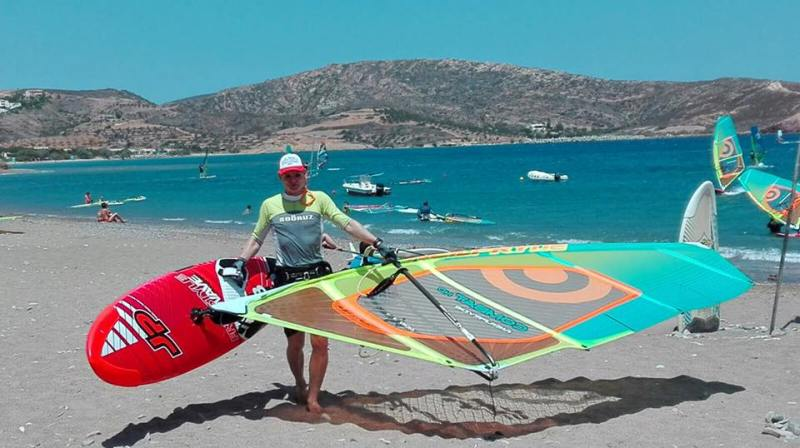 Crete windsurfing holiday. Palekastro Bay.
