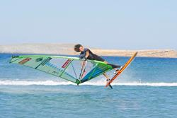 Crete windsurfing holiday. Palekastro Bay freestyle coaching.