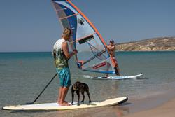 Prasonisi Beach - Southern Rhodes, Greek Islands. Learn to windsurf holiday.