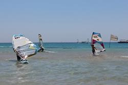 Safaga, Red Sea - windsurfing beach area.