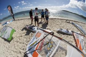 St Martin - Caribbean. Galion Beach windsurf centre.