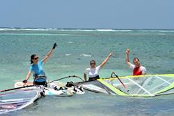 St Martin - Caribbean. Galion Beach windsurf lessons & instructions.