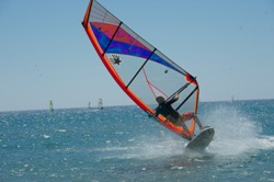 Prasonisi - Rhodes. Windsurfing Pro Coaching Clinics with Jem Hall.