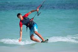 Kenya - Diani Beach. Windsurf, kiteusrf, surf and SUP. Kitesurf action.