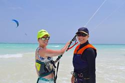 Kenya - Diani Beach. Windsurf, kiteusrf, surf and SUP. Kitesurf lesson.