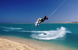 Marsa Alam - Red Sea. Kitesurfer.