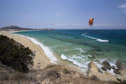 Greek Islands - Naxos. Kitesurf Holiday. Mikri Vigla sailing area.