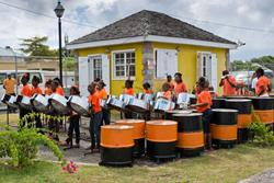 Nevis - steel pan band.