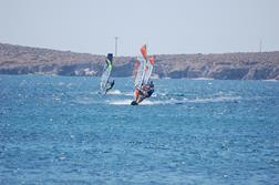 Sigri - Lesvos. Windsurf action.