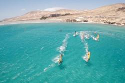 Sotavento, Fuerteventura - Canary Islands. Windsurf aerial.