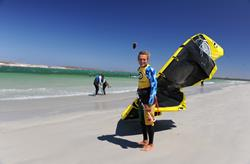 South Africa kitesurf holidays. Langebaan.