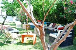 Surf Lodge, Alacati - Turkey. Garden seating area.