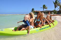 Bonaire Windsurf and Kitesurf Holiday. Kids kayaking.