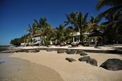 20 Degrees Sud boutique hotel, Mauritius - beach view.